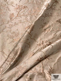 Ralph Lauren Vintage-Look Landscape of Trees Silk and Lurex Jacquard Lame - Sand / Rose Gold