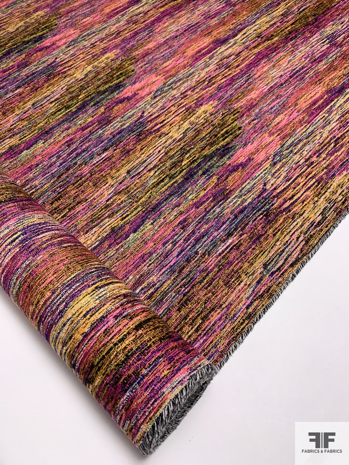 Italian Tightly Woven Novelty Virgin Wool Blend - Multicolor / Magenta