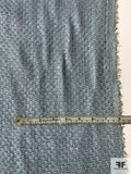 Ralph Lauren French Basketweave Linen Suiting with Foil Print - Baby Blue
