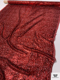 Made in France Lurex Burnout Velvet - Shimmery Red Wine