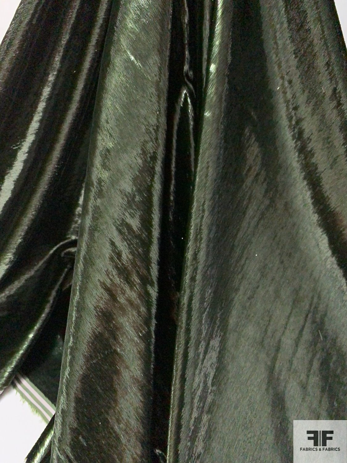 Made in Italy Shiny Viscose Panne Velvet - Deep Army Green