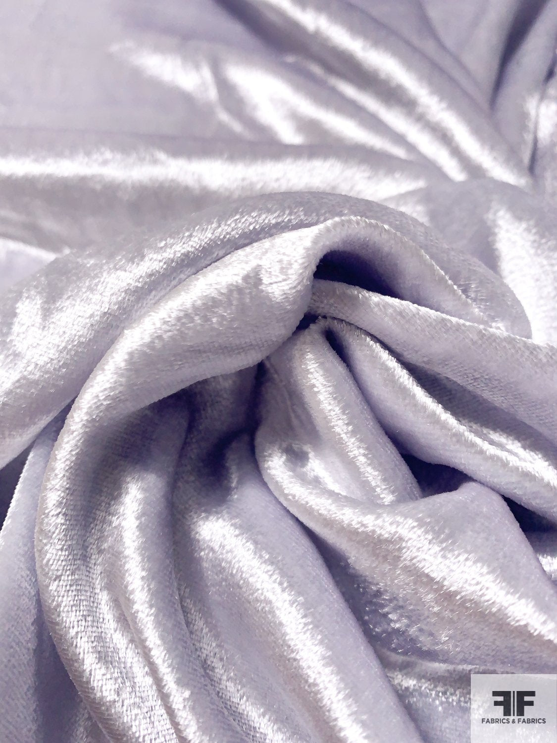 Solid Silk and Rayon Velvet - Icey Lilac-Grey