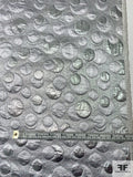 Made in Switzerland Textured Circles Metallic Brocade - Silver