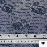 Sequin Embroidered Lace - Blue