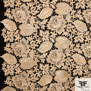 Floral Guipure Lace - Yellow Gold
