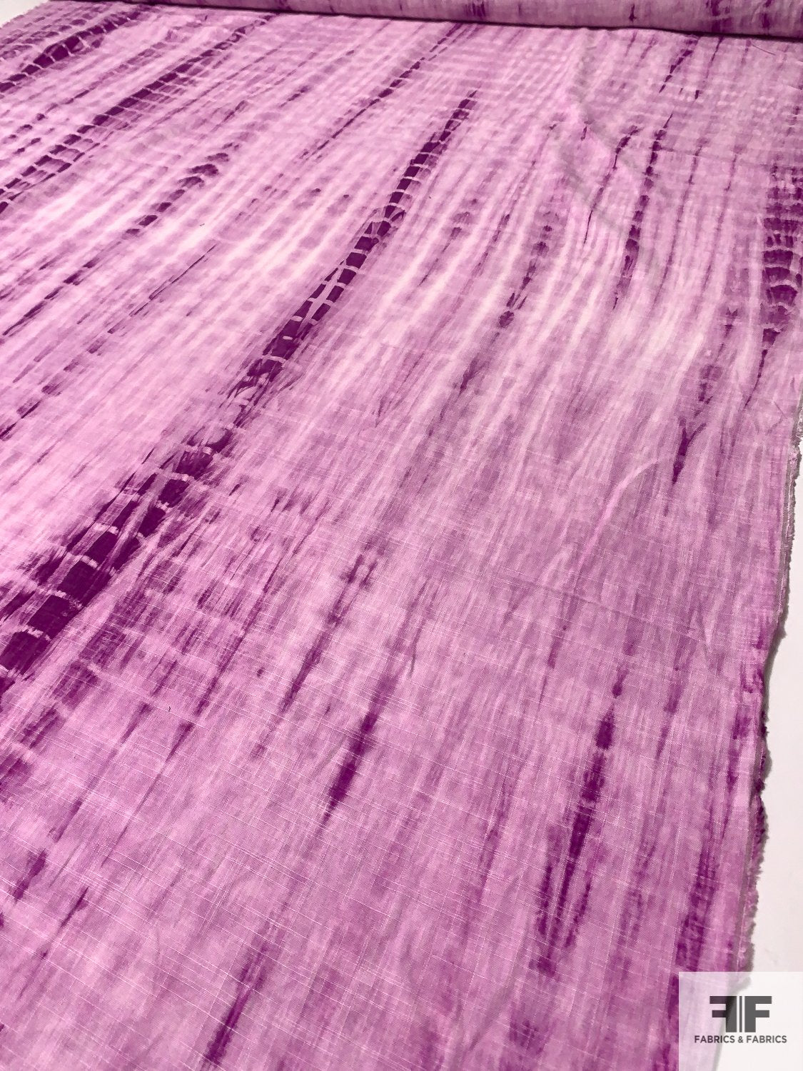 Tie-Dye Printed Linen - Purple / White