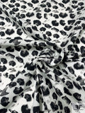 Mysterious Abstract Printed Cotton Poplin - Black / White / Grey