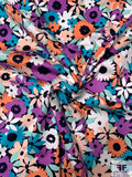 Playful Floral Printed Cotton Sateen - Multicolor