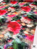 Romantic Hazy Floral Printed Silk Georgette - Multicolor