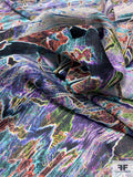 Abstract and Arousing Printed Silk Georgette - Multicolor