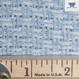 Basket Weave Cotton Suiting - Blue - Fabrics & Fabrics NY