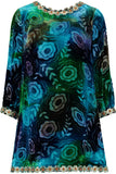 Anna Sui Cut Silk Velvet - Blue/Green