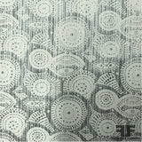 Abstract Metallic Brocade - Silver/Grey - Fabrics & Fabrics NY