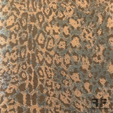 Metallic Cheetah Brocade - Copper/Orange/Gold - Fabrics & Fabrics