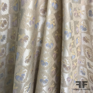 Diamond Floral Brocade - Beige