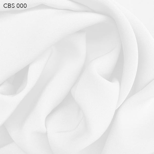 White Silk Crepe Back Satin - Fabrics & Fabrics