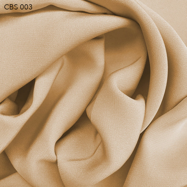 Silk Crepe Back Satin - Tan - Fabrics & Fabrics