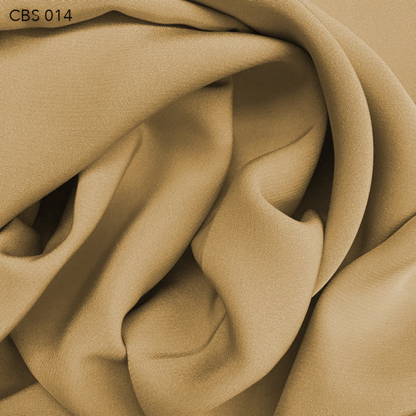 Silk Crepe Back Satin - Biscotti Brown - Fabrics & Fabrics