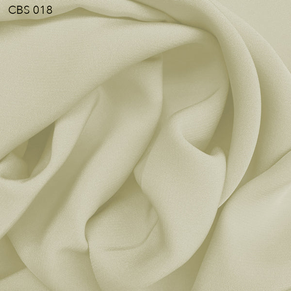 Silk Crepe Back Satin - Dove White - Fabrics & Fabrics