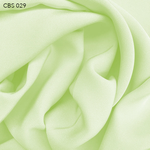 Silk Crepe Back Satin - Lime Cream - Fabrics & Fabrics