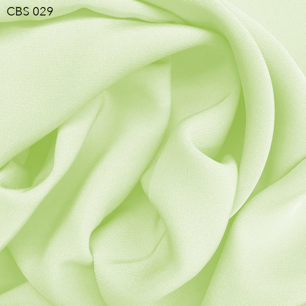 Silk Crepe Back Satin - Lime Cream