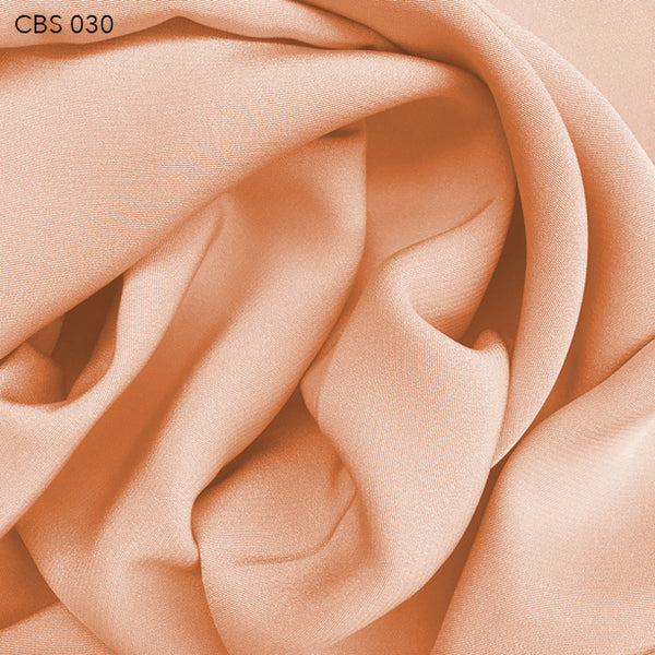 Silk Crepe Back Satin - Nude Orange - Fabrics & Fabrics