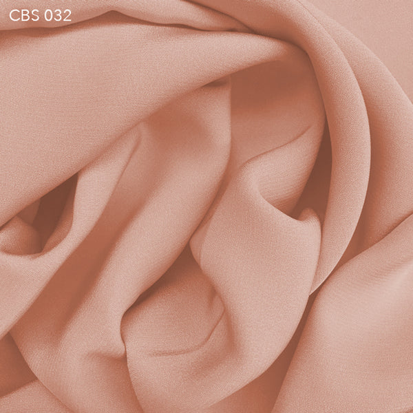 Silk Crepe Back Satin - Peach Quartz - Fabrics & Fabrics