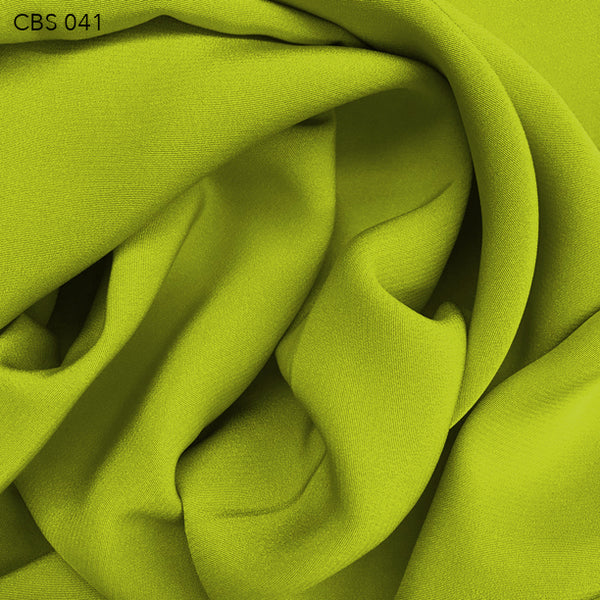 Silk Crepe Back Satin - Acid Lime - Fabrics & Fabrics