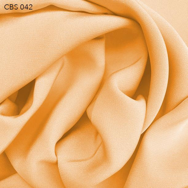 Orange Silk Crepe Back Satin - Fabrics & Fabrics