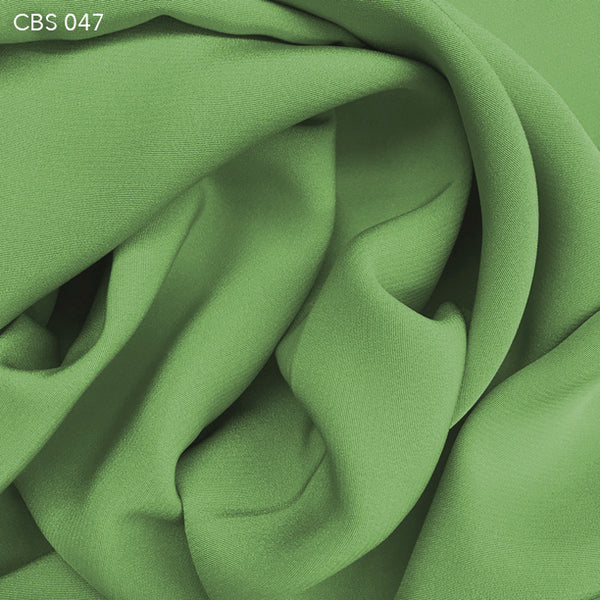Silk Crepe Back Satin - Patina Green - Fabrics & Fabrics