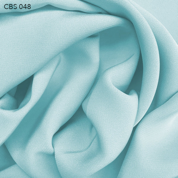 Silk Crepe Back Satin - Ice Blue - Fabrics & Fabrics