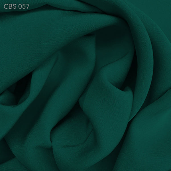 Silk Crepe Back Satin - Deep Teal - Fabrics & Fabrics
