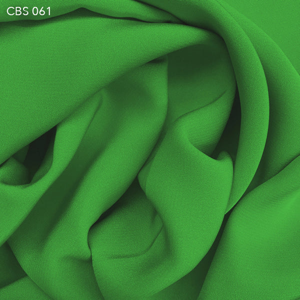 Silk Crepe Back Satin - Bright Green - Fabrics & Fabrics