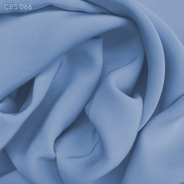 Silk Crepe Back Satin - Sporty Blue - Fabrics & Fabrics