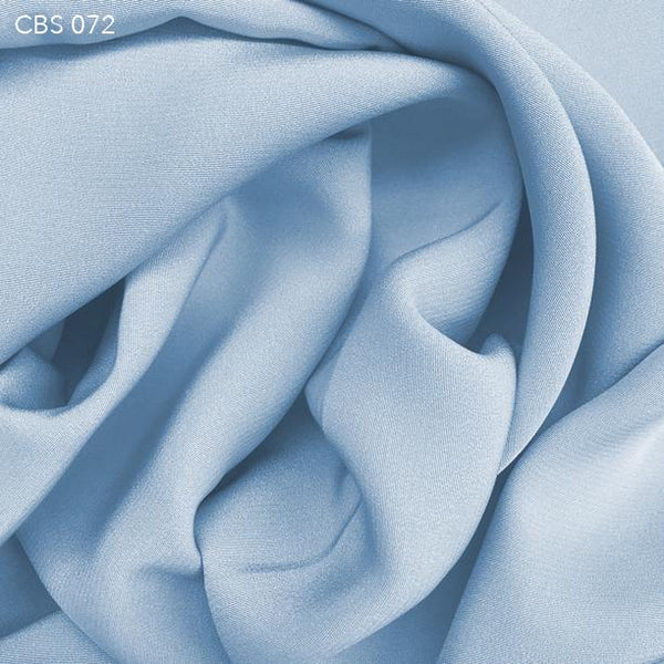 Misty Blue Silk Crepe Back Satin - Fabrics & Fabrics