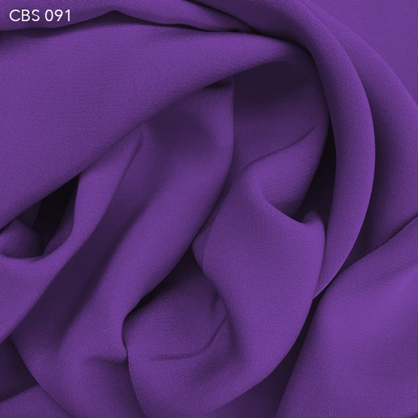 Silk Crepe Back Satin - Purple Flower - Fabrics & Fabrics