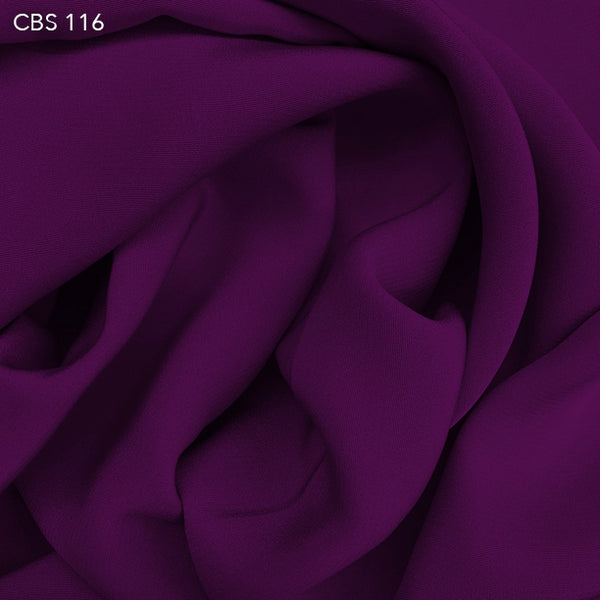 Silk Crepe Back Satin - Electric Violet - Fabrics & Fabrics