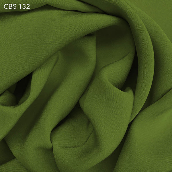 Silk Crepe Back Satin - Pickle Green - Fabrics & Fabrics