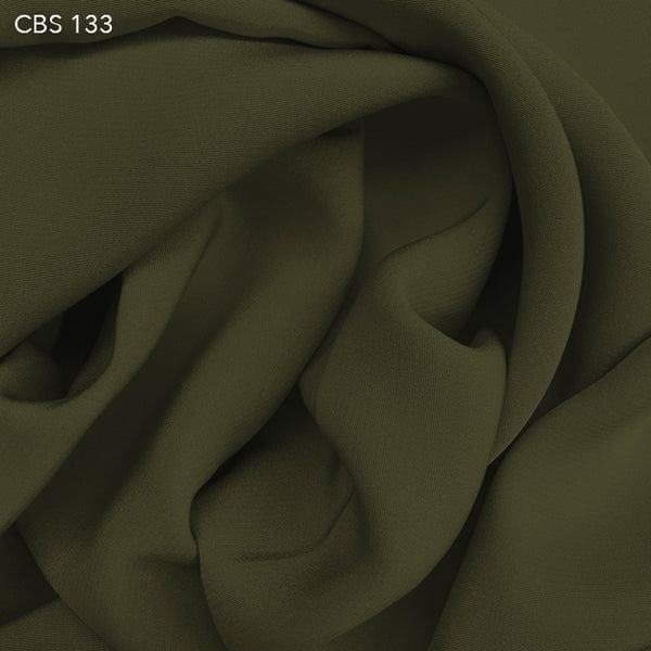Silk Crepe Back Satin - Olive Green