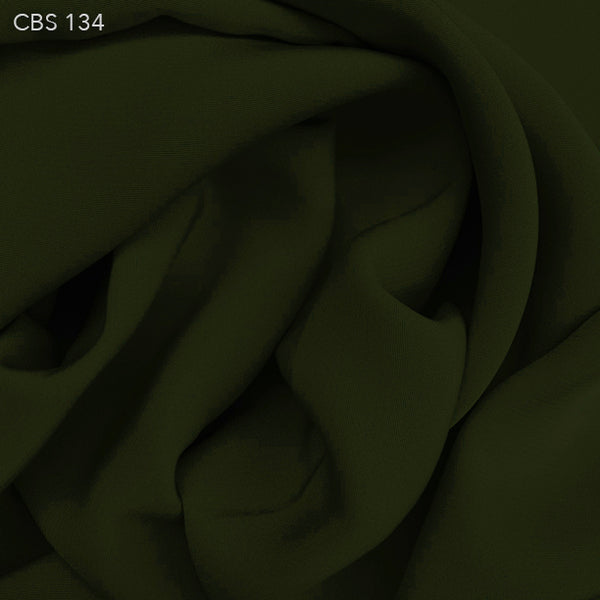 Silk Crepe Back Satin - Pesto Green - Fabrics & Fabrics