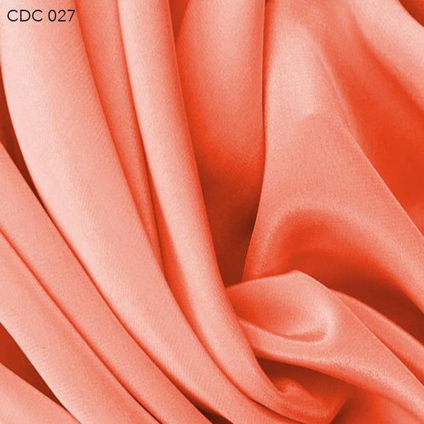 Orange Silk Crepe de Chine - Fabrics & Fabrics