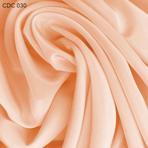 Silk Crepe de Chine - Nude Orange - Fabrics & Fabrics