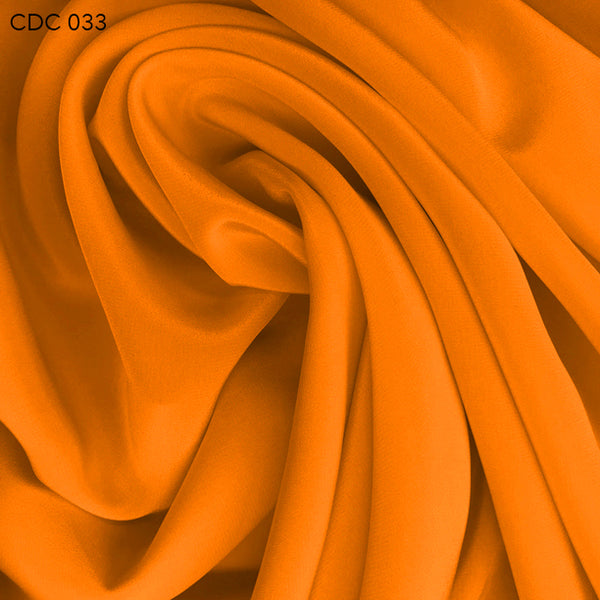 Silk Crepe de Chine - Citrus Orange - Fabrics & Fabrics