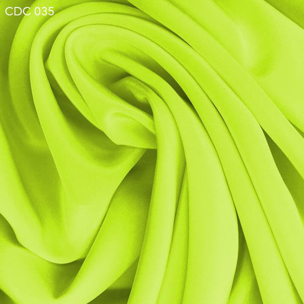 Yellow Green Silk Crepe de Chine - Fabrics & Fabrics