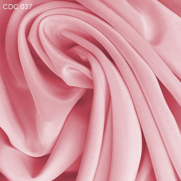 Dusty Rose Silk Crepe de Chine - Fabrics & Fabrics
