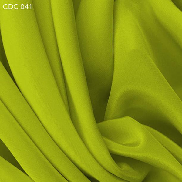 Acid Lime Green Silk Crepe de Chine - Fabrics & Fabrics