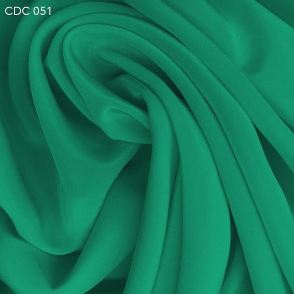 Light Teal Silk Crepe de Chine - Fabrics & Fabrics