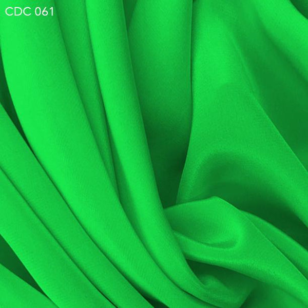 Bright Green Silk Crepe de Chine - Fabrics & Fabrics