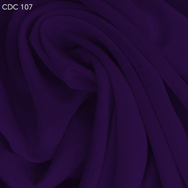 Royal Purple Silk Crepe de Chine - Fabrics & Fabrics