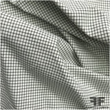 Checkered Cotton Shirting - Black/White - Fabrics & Fabrics NY